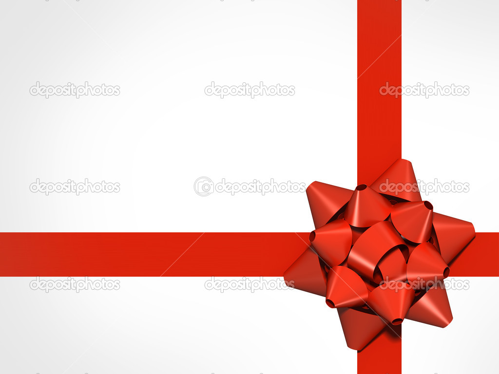 Exceptionnel rouge avec noeud cadeau — Photo #6338443 TH89