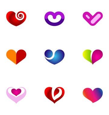 9 logo or icon design elements clip art vector
