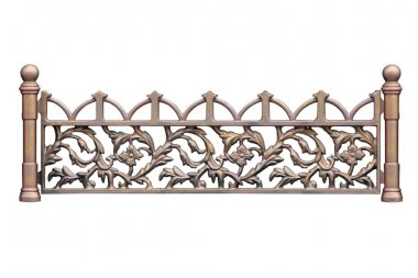 Old-time forged fence 2.