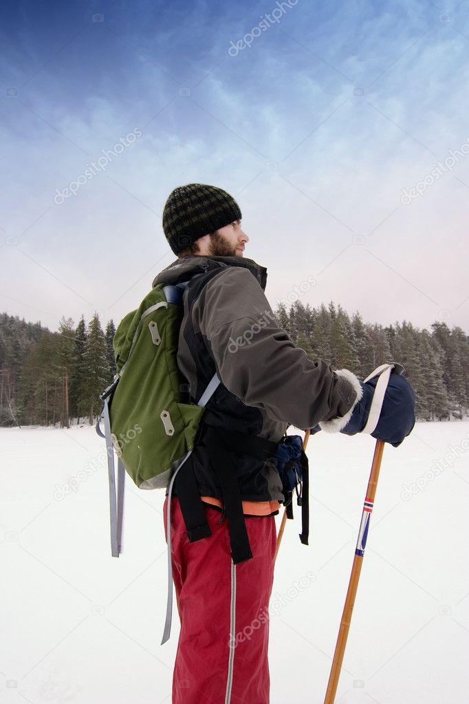 Confident Beginner Skiier