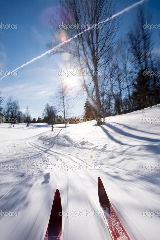 Cross Country Skiing Motion