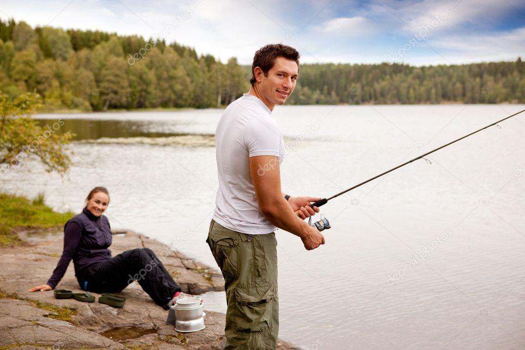 Fishing on Camping Trip