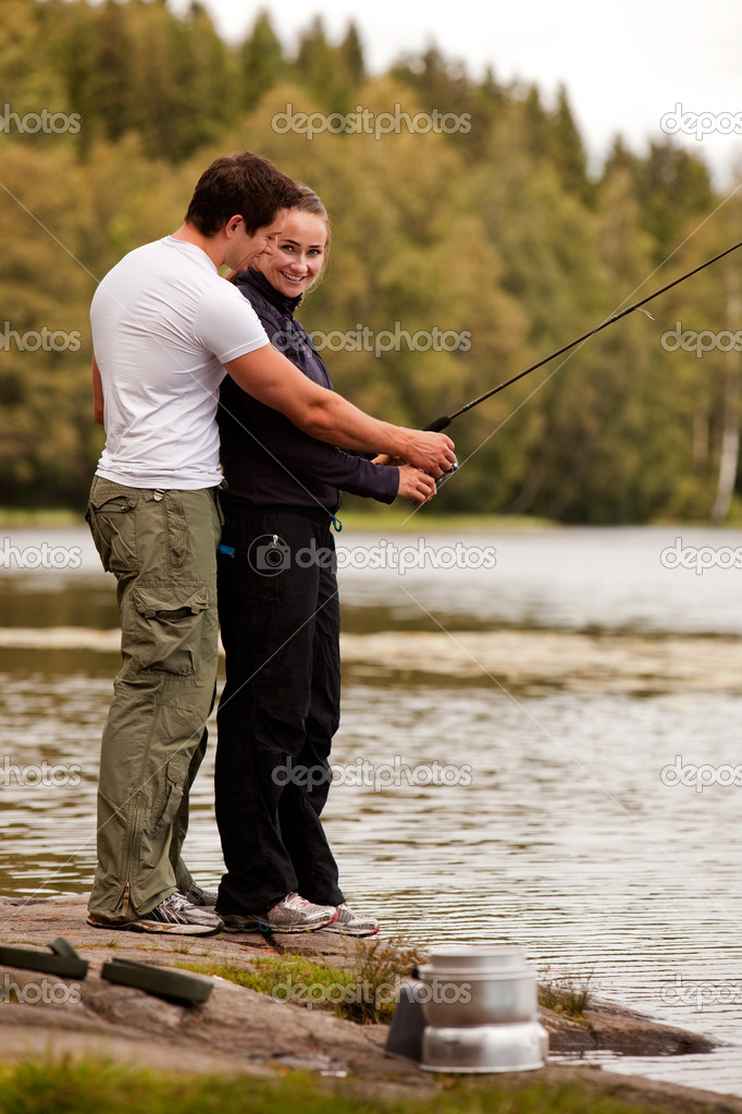 Man and Woman Fishing