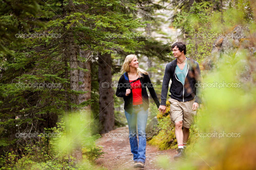 Walk Forest Couple
