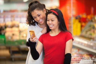Friends in Supermarket