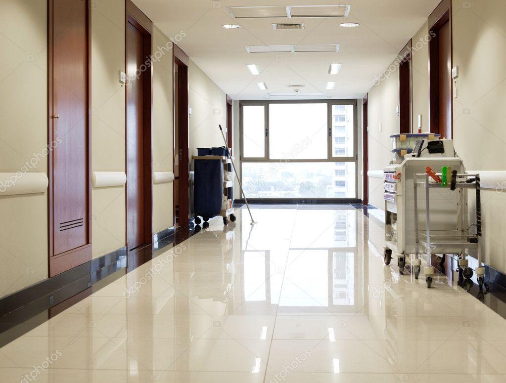 Empty hallway of hospital — Stock Photo © SimpleFoto #6554659