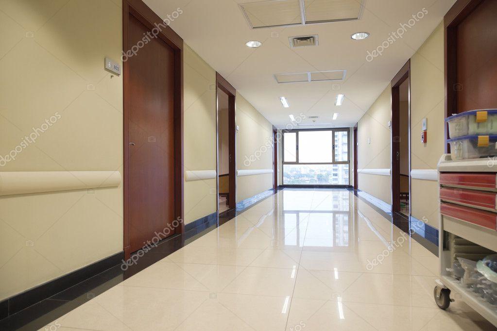 Empty passageway of hospital