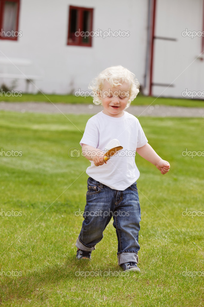 Boy with Gardening Tool
