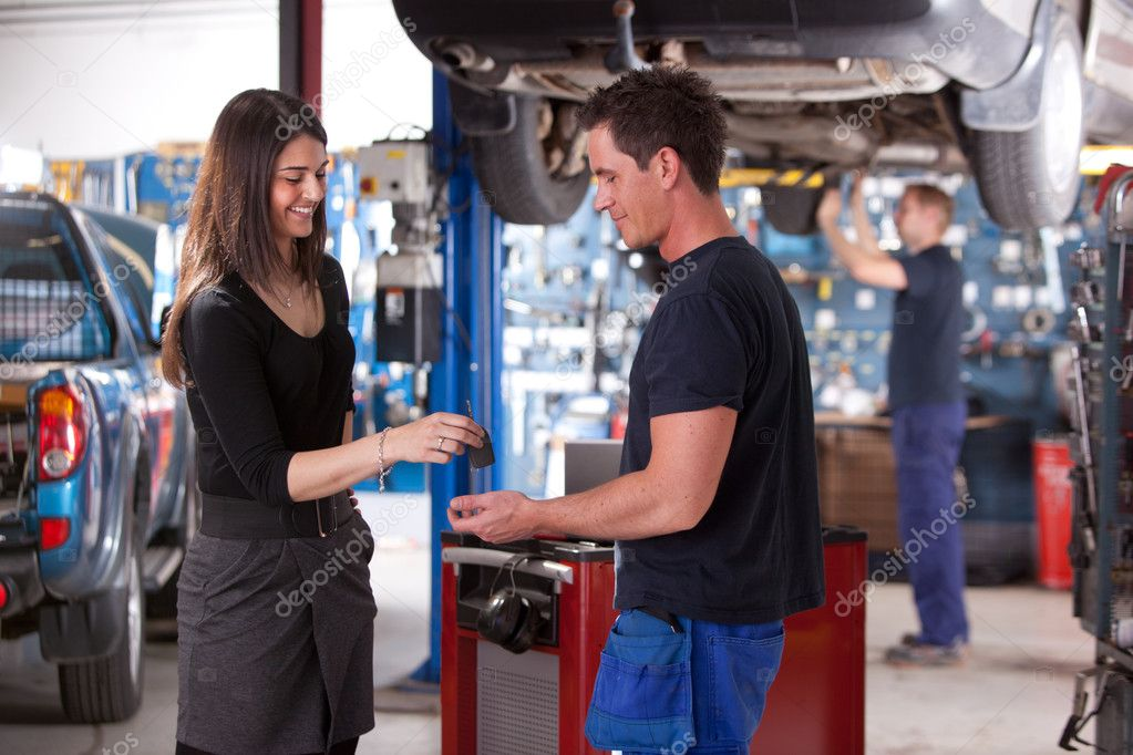 Customer Dropping Off Car at Mechanic