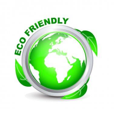 Green ECO FRIENDLY button stock vector