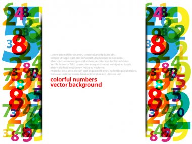 Colorful numbers with abstract background