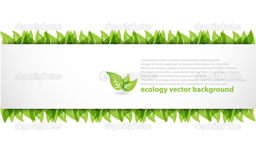 Modern abstract ecology background