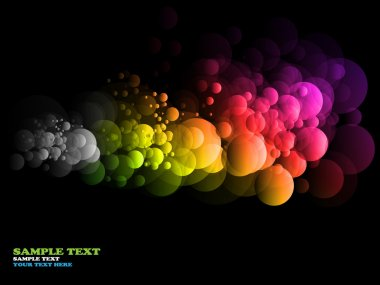 Rainbow circles - abstract vector background