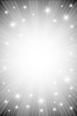 Background of metallic luminous rays