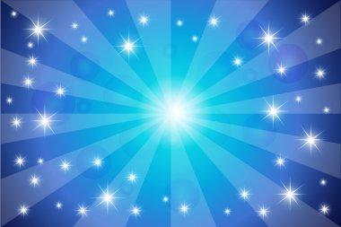 Twinkling stars vector background clip art vector