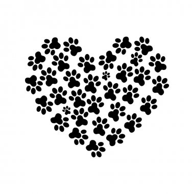 Heart Paw print 3