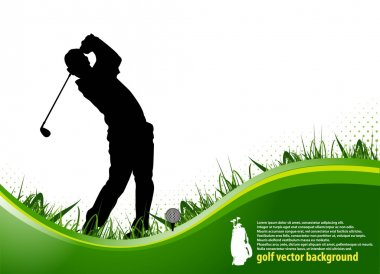 Golf player background