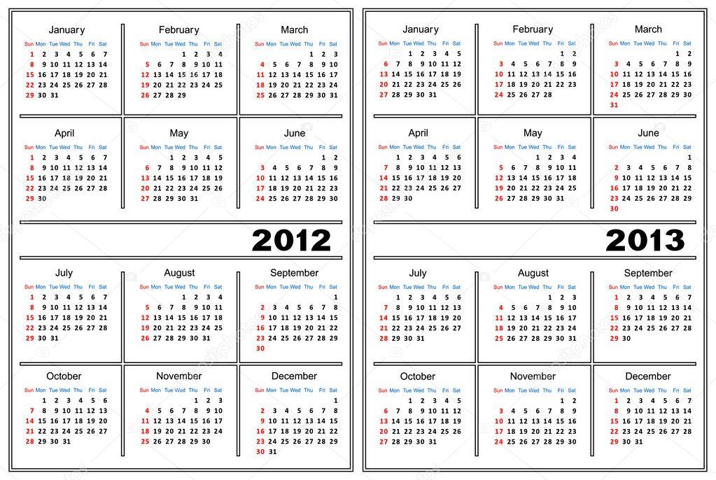 Kalendervorlage — Stockvektor © Silantiy #6435181