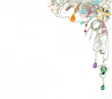 Platinum jewelry with gems