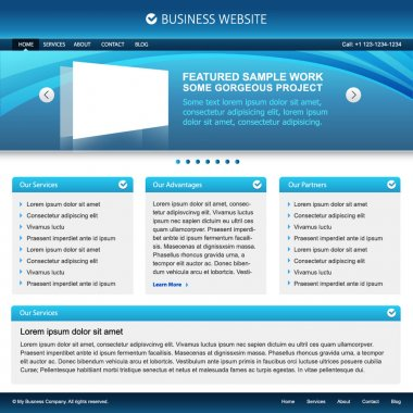 Blue web design template