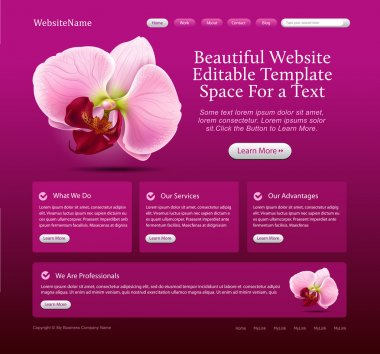 Beauty website template