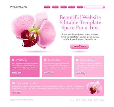 Website template for beauties