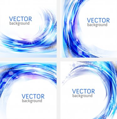 Abstract blue vector backgrounds collection