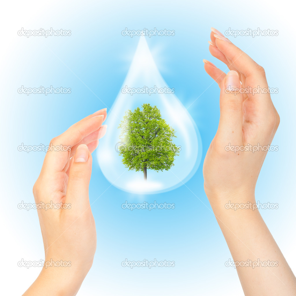 Картинки капля воды в ладонях