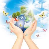 Fényképek koncepció, kivéve a zöld bolygó