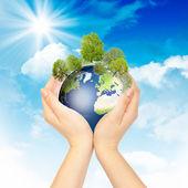 Fényképek szimbólum a környezetvédelem