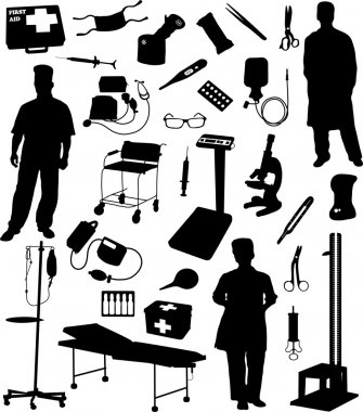 Collection of medical equipment and instruments