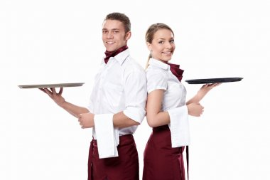 Two attractive waiters