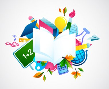 Back to school - colorful background
