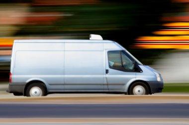 Blur speedy blue van