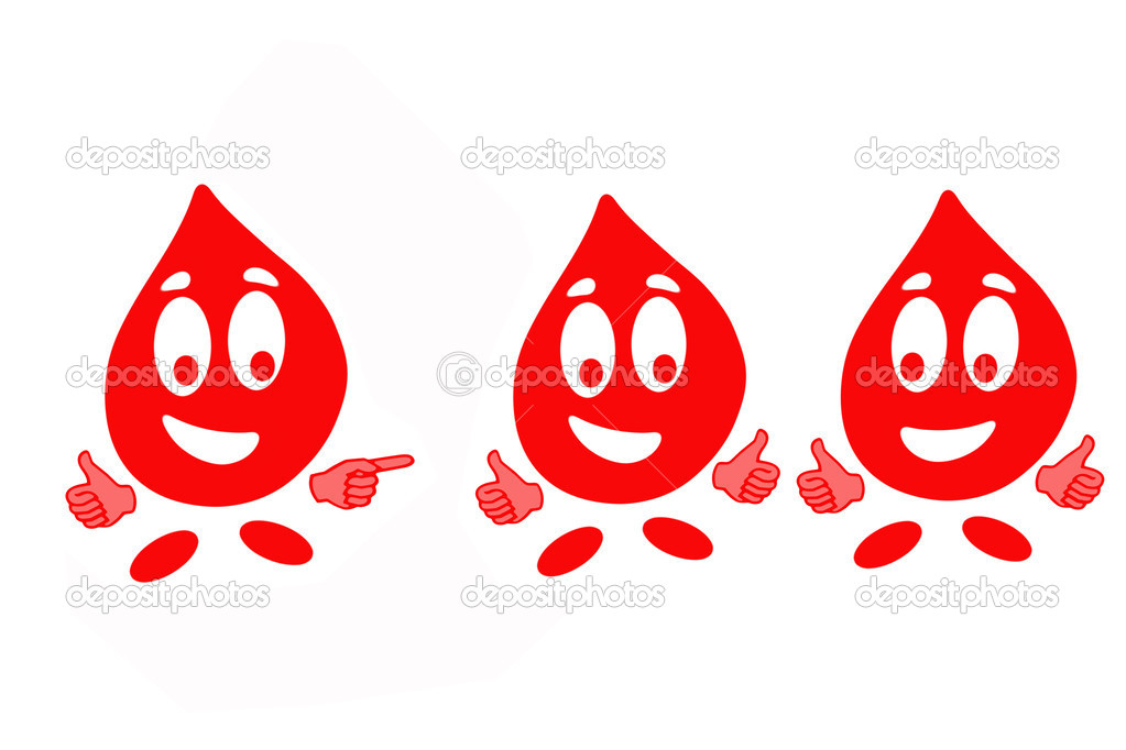 Smiling drop of blood