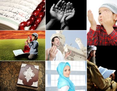 Beautiful ISLAM collection, collage of several photos, Muslim and th