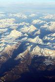 Letecký pohled na hory