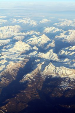 Aerial view on mountains