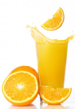 Fresh and cold orange juice