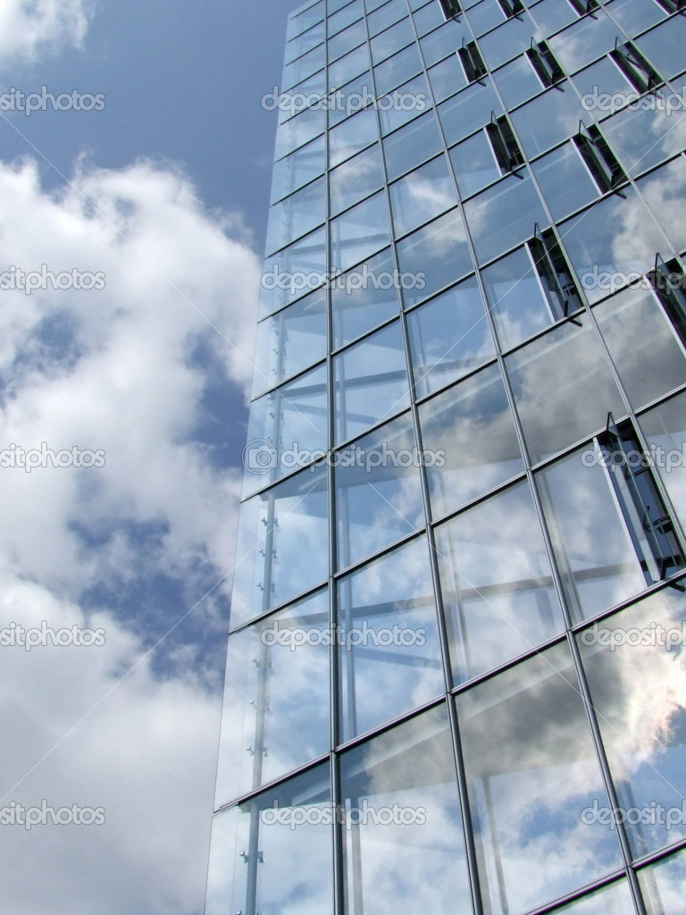 Supporting Glass Facade : Glass facade — stock photo saphira