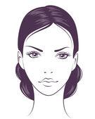 tvář dívka