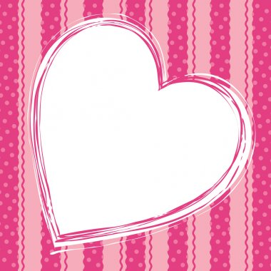 Pink love card with hearts vector illustration clip art vector