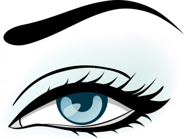 Woman blue eye illustration