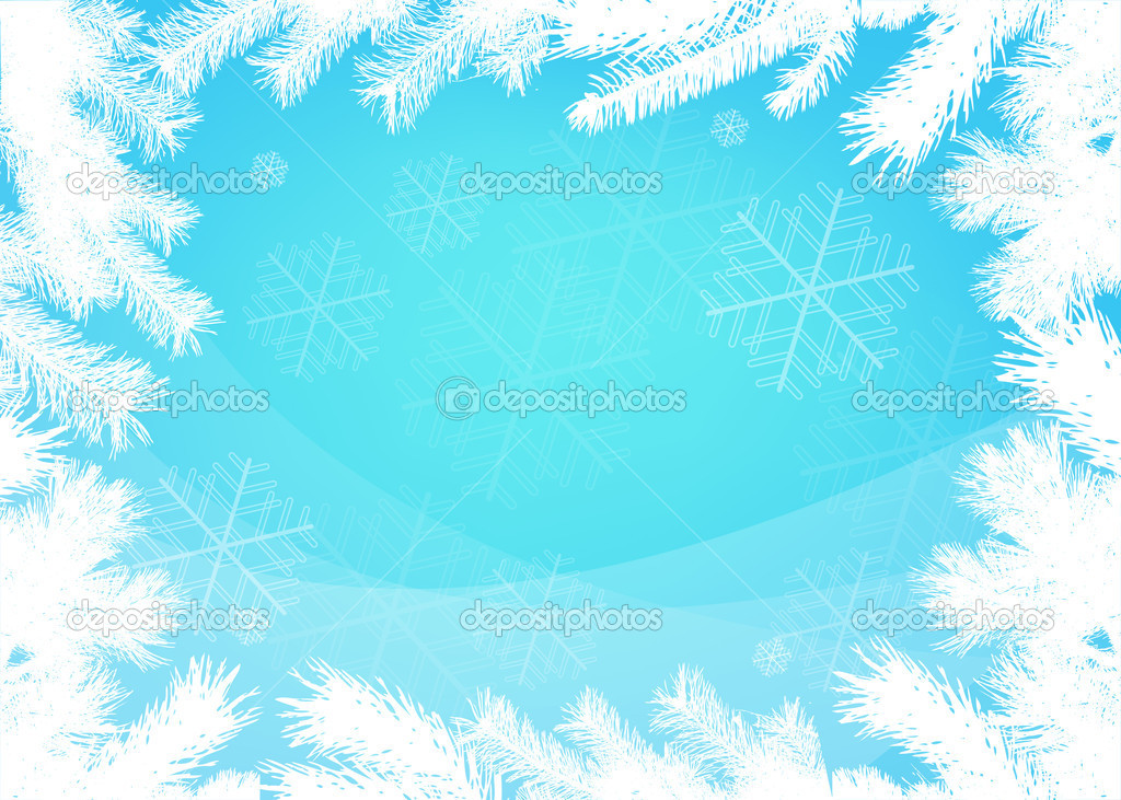 Winter christmas border background — Stock Vector © ColorValley ...