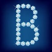 Fotografie Vector Diamond alphabet. Letter B