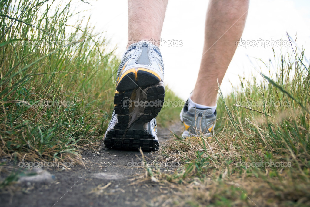 Walking sports shoe in summer