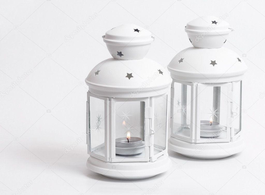 Lanterne bianche foto stock leeser 5927518 for Lanterne bianche