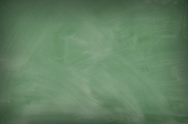 Green chalkboard with eraser marks