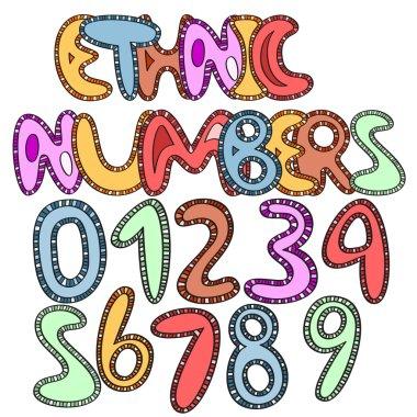 vector ethinic numbers