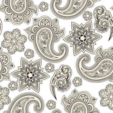 vector seamless paisley background,
